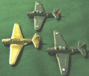 USA 47 TBD Devastator. 2 painted samples, 1 unpainted shown.